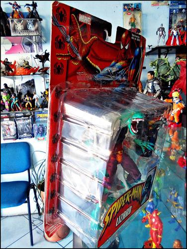 lizard,enemigo spiderman,toy biz 2002,rempacado,completo.