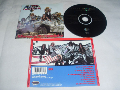 lizzy borden ~ menace to society (metal blade) $6.900