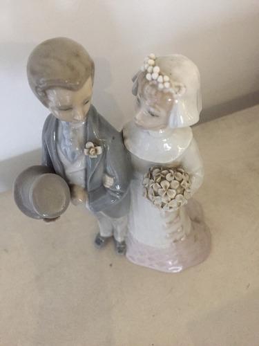 lladro figura elegante los novios cerámica colección