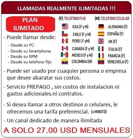 llamadas ilimitadas para call center a venezuela