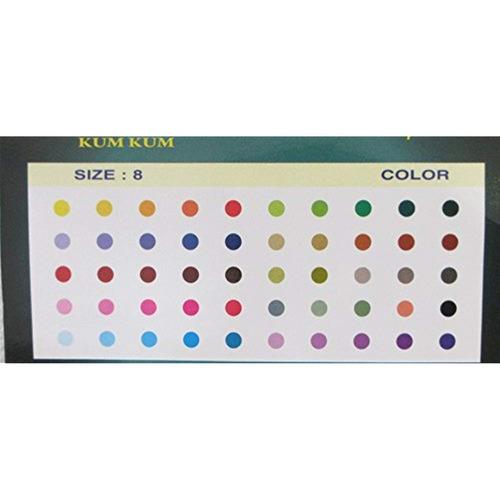 llano de 250 colores ronda bindis tamaño