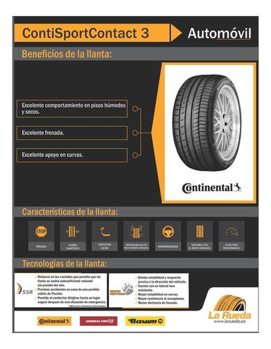 llanta continental 205/55 r17 contisportcontact 3