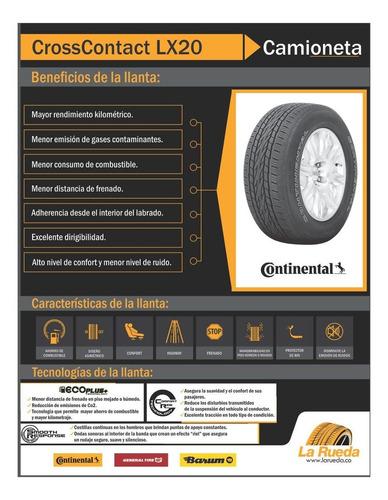 llanta continental 225/60 r17 crosscontact lx20