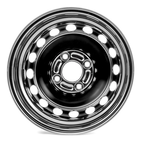 llanta de acero 5,5 x 14 - (pintada negra) ford fiesta kinet