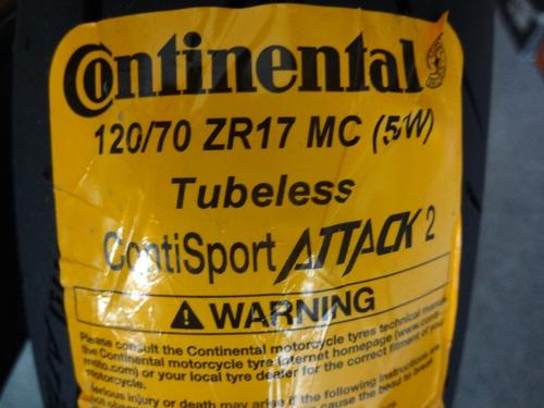 llanta de moto delantera velocidad  120/70zr17 - continental