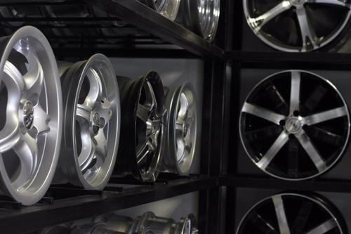 llanta deportiva ford f100 rodado 15x7 5x139.7 negra perlado