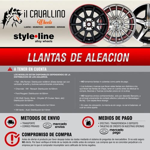 llanta deportiva style line 17 virtus polo corolla cavallino