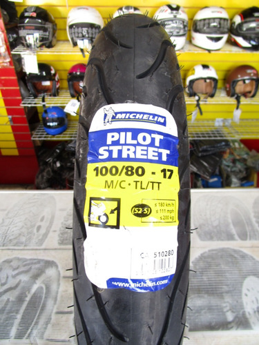 llanta michelin 100/80-17 pilot street fz16  delantera