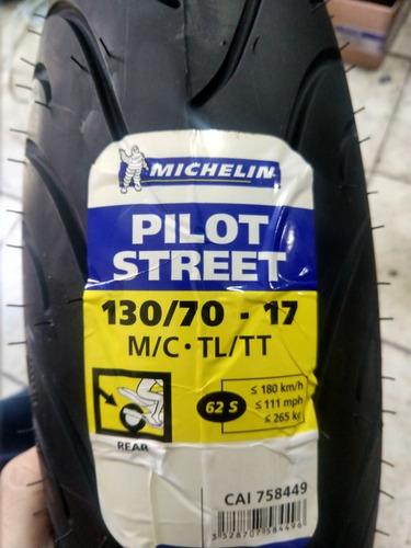 llanta michelin 130/70-17 pilot street 62s no usa camara