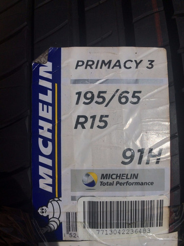 llanta michelin 195/65r15 primacy3 91h