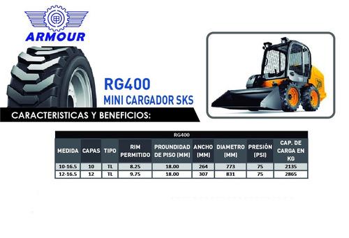 llanta para minicargador  10-16.5 10cp rg400 tl armour