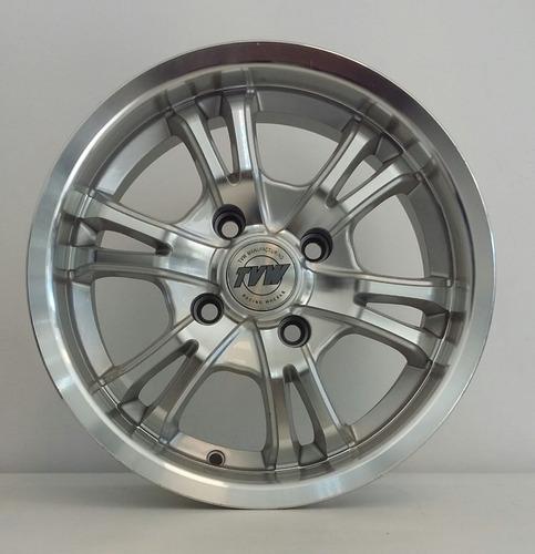 llanta tvw r14 4x108 kit x4 peugeot ford precio x llanta