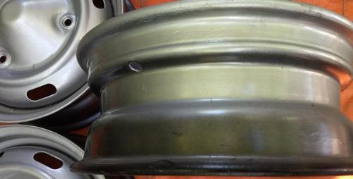 llantas 13 renault 12/6 tl gris plata metalizado laca envío