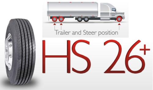 llantas camion hanksugi ref. 295.80.22.5 direccional