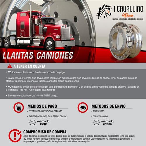 llantas de aluminio camion eb 11.75x22.5 10 agujeros