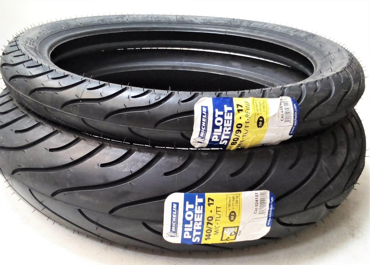 Llantas Michelin 140 70 17 80 90 Pilot Street 205900 En 9090 14 Tubeless Ban Matic