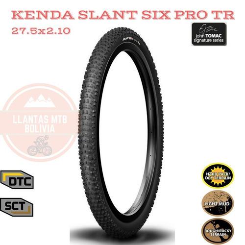 llantas mtb xc 27.5  kenda slant six pro tubeless ready