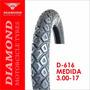 Llanta Diamond D-616 3.00 - 17 Sellomática (1167)