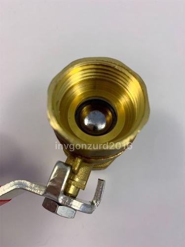 llave bronce bola 3/4 pulgada x2unidades tienda fisica *