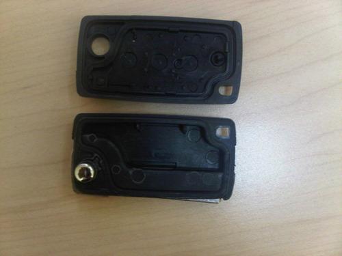 llave citroen c4 plegable 3 botones para chip y control