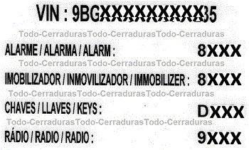 llave codificada chevrolet onix ltz telemando original