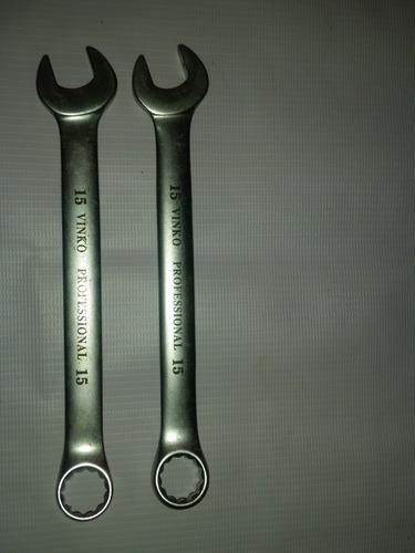 llave combinada 15 mm vinko professional