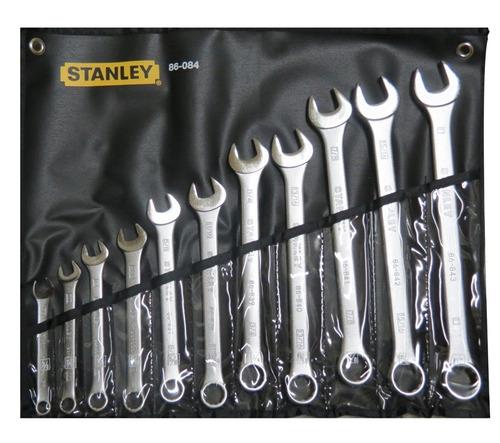 llave combinada jgo de 11 pz 3/8-1 indus stanley mod 86084