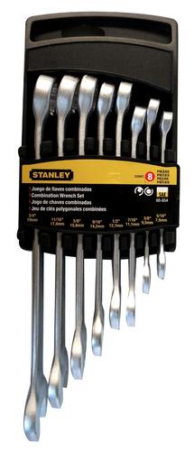 llave combinada jgo de 8 pz 5/16-3/4 stanley modelo 88854