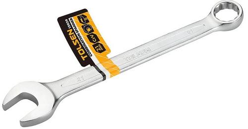 llave combinada milimétrica cromada de 13mm tolsen