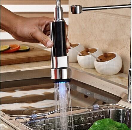 Llave con luz led mezcladora cocina monomando grifo - Luz led cocina ...
