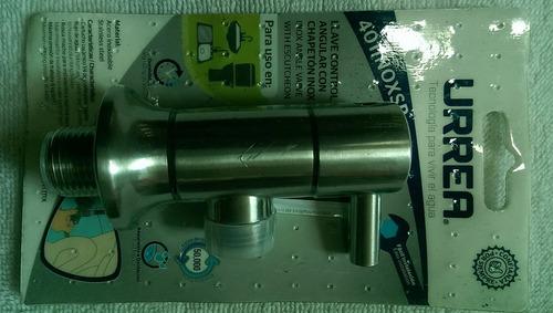 llave control angular agua urrea 101inox acero envío gratis