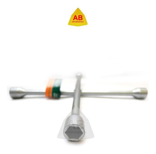 llave cruz cromada reforzada auto 17 x 19 x 21 x 23 mm