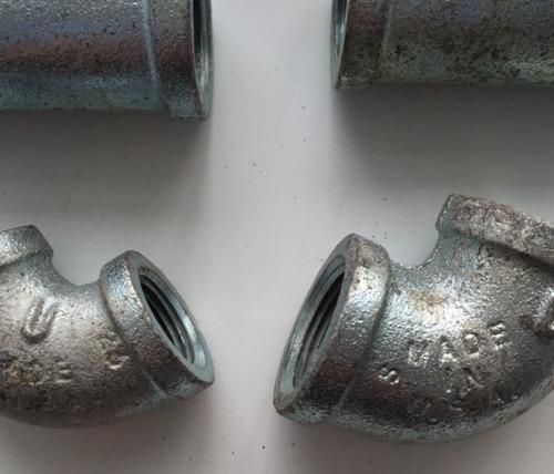 llave de 1     y  conexiones galvanizadas de servicio pesado