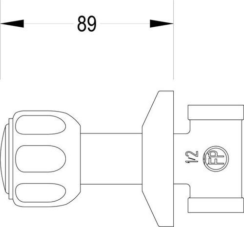 llave de ducha individual fp manilla pomo