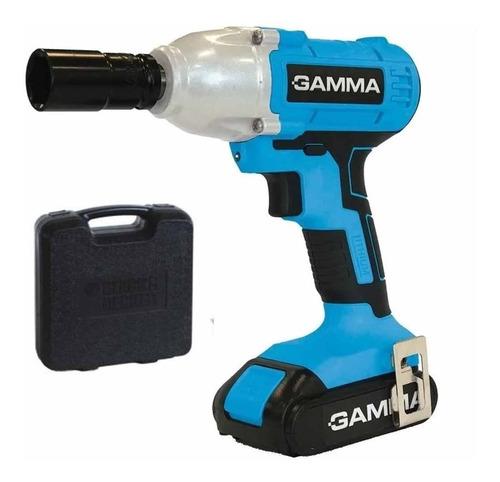 llave de impacto a bateria 21 vcc -gamma- g12201ar - maletin