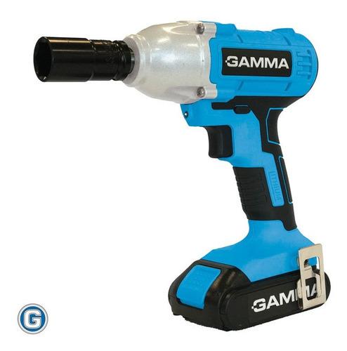 llave de impacto atornillador gamma g12201 21v bateria litio