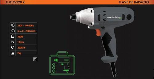 llave de impacto electrica 220v 1/2 maletin + tubos + envio