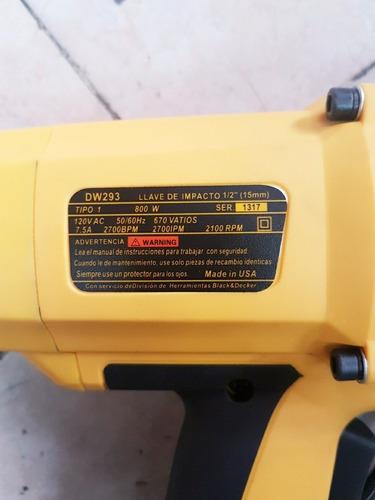 llave de impacto  electrica dewalt 7.5-amp 1/2-pulgada