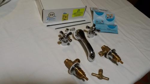 llave de lavamano fundicion pacifico fp cross