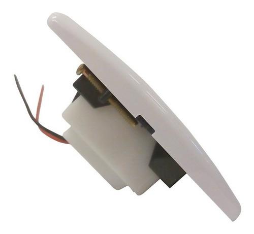 llave de luz armada 1 modulo toma cargador usb sica blanco