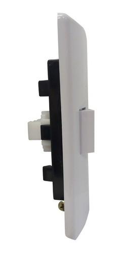 llave de luz armada 1 pulsador blanco tecla sica 10a