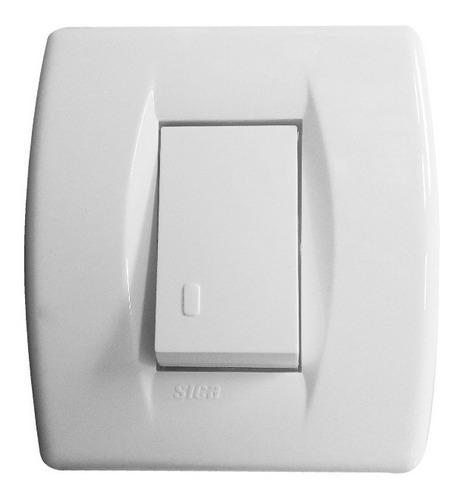 llave de luz armada 1 pulsador mignon blanco tecla 10a