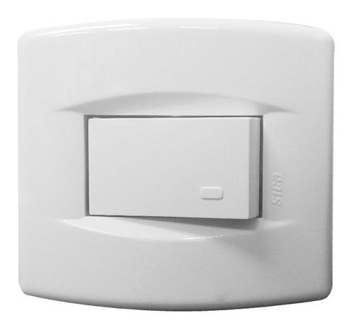 llave de luz armada 1 pulsador mignon blanco tecla sica 10a