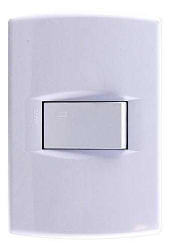 llave de luz armada 1 punto tecla modulo 10a amp