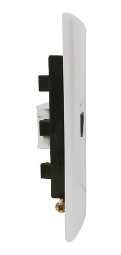 llave de luz armada 1 toma telefono bp 6p- 2c blanco rj11