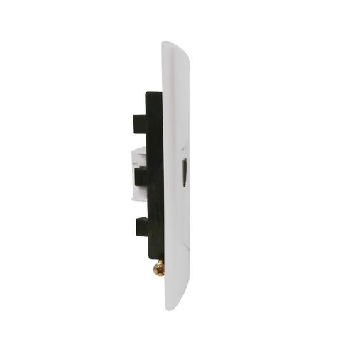 llave de luz armada 1 toma telefono bp 6p- 2c sica blanco