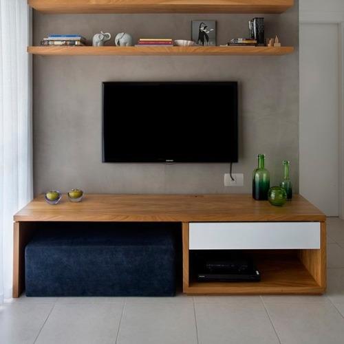 llave de luz armada 1 toma tv perno fino blanco sica