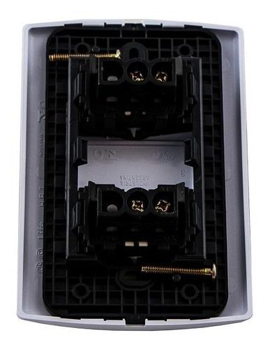 llave de luz armada 2 puntos teclas modulos 10a amp