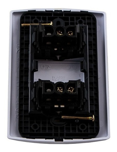 llave de luz armada 2 puntos teclas modulos sica 10a