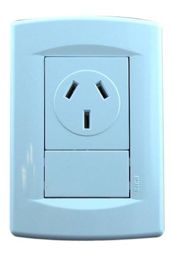 llave de luz armada completa 1 toma 20a life blanco sica